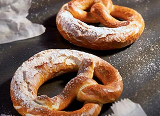 PRETZELS WITH TASTE APPEAL.